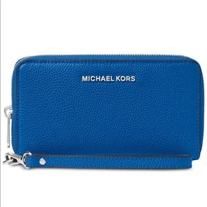 Michael Kors Mercer Leather Zip Wallet Wristlet